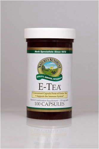 Naturessunshine E Tea Immune System Support Herbal Combination Supplement 129 mg 100 Capsules (Pack of 12)