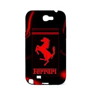 3D Artistic Design Ferrari Logo Hard Plastic Phone Case for Samsung Galaxy Note 2 N7100 Luxury Ferrari Logo