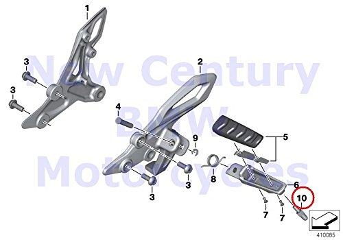 2 x BMW Genuine Motorcycle Front Footpeg Plate Footrest Stopper L=32MM MK R1100S R1100RT F650CS R nine T R1200RT R900RT R1200R R1200ST HP4 K1200GT K1300GT S1000RR S1000R K1600GT R1200RT R1200R F800GT (Footpeg Plate)