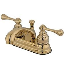 Kingston Brass KB3602BL Vintage 4-Inch Centerset Lavatory Faucet, Polished Brass