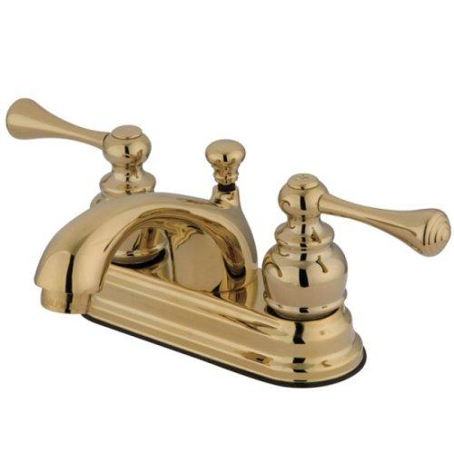 (Kingston Brass KB3602BL Vintage 4-Inch Centerset Lavatory Faucet, Polished Brass )