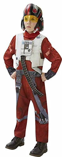 [Star Wars Little Girls' Deluxe X Wing Pilot Costume Medium Multi-Colored] (Girls Pilot Costumes)