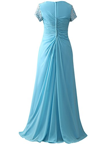 Prom Gowns Cap Sleeves Sequins The Cdress Chocolate Dresses Formal of Bride Mother Beads tzPPE5xw