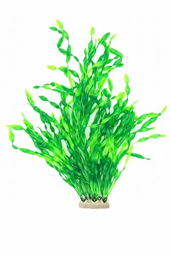 SWET Aquarium Decor Plastic Plants Artificial Emulational Fish Tank Decorations Green Plant (20.5 inch, Green) (Plastic Aquarium Plant)