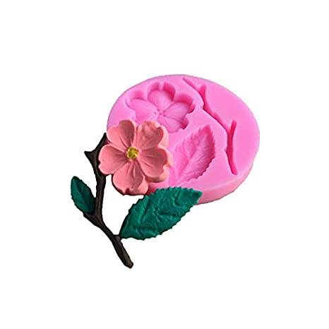Amazon.com: mojj 3D Food-Grade Silicone Mold Peach Blossom Cake Decorating Tool Chocolate Candy Jello Baking Moldes De Silicona Para Reposteria: Home & ...