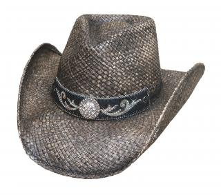 Bullhide Black Tennessee River Western Straw Hat