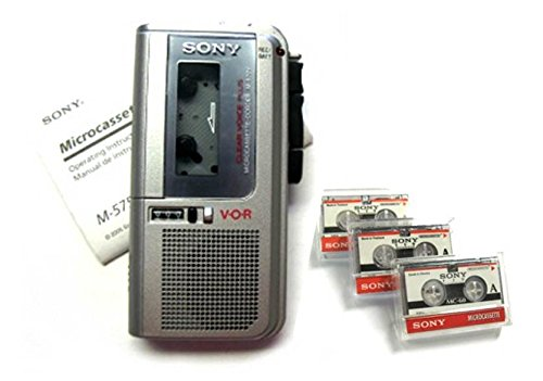 Newly Reconditioned Sony M-570V Handheld Microcassette Voice