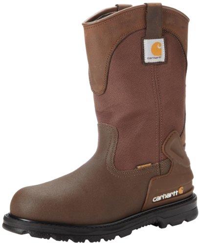"""Carhartt Men's 11"""" Wellington Waterproof Steel Toe Leathe..."""
