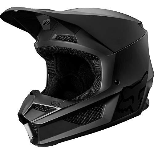 2019 Fox Racing V1 Matte Men's Off-Road Motorcycle Helmet - Matte Black/Large (Helmet Large Matte)