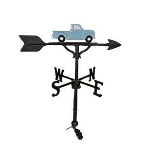 Montague Metal Products 81,3cm forma de gallo con Teal Classic camión adorno