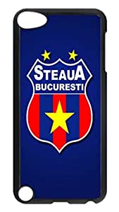iPod 5 Cases, Hot Sale Personalized Steaua Bucuresti Blue Protective Hard PC Plastic Black Edge Case Cover for Apple iPod Touch 5 5th Generation