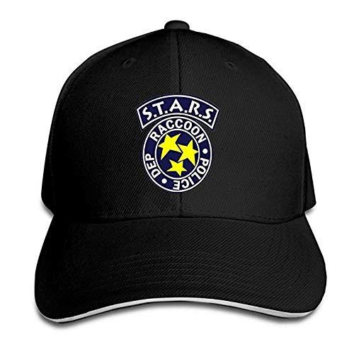 b2311c7dc84ff1 BOoottty Residentevil Resident Evil S.T.A.R.S Logo Flex Baseball Cap Black