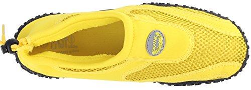 Enimay Uomo Outdoor Stretch Nylon Mesh Suola In Gomma Regolabile Sport Water Shoe Giallo Neon