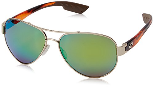 Costa del Mar South Point Polarized Iridium Aviator Sunglasses, Rose Gold w/Light Tortoise, 59.0 - South Costa Point Sunglasses