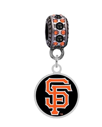 San Francisco Giants Logo Charm Fits European Style Large Hole Bead (San Francisco Giants Charm)