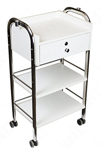 Trolley Utility (Supreme Medical Dental Mobile Utility Cabinet & Cart with Steel Frame With Single Lockable Drawer)