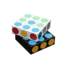 I-xun® New Plastics Speed 1x3x3 Puzzle Cube Stickerless Speed Magic Cube (Black+White)