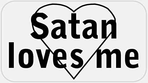 Satan Loves Me - 500 Stickers Pack 2.25 x 1.25 inches - Heart Anti Christ 666