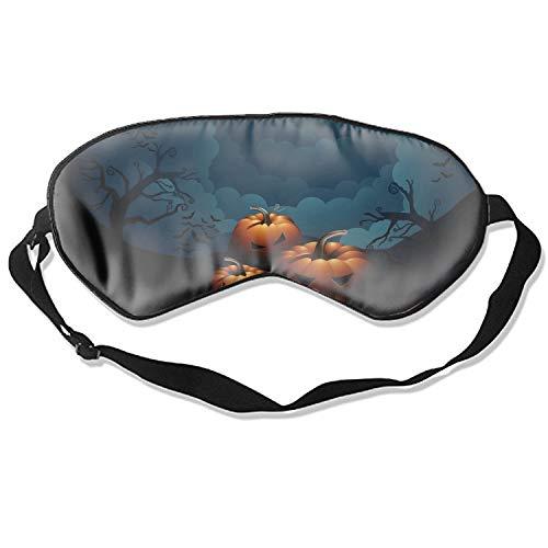 Natural Silk Sleep Mask, Blindfold, Super Smooth Eye Mask Scary Halloween Pumpkin ()