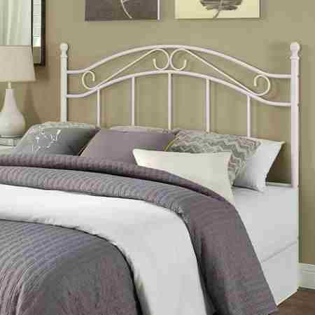 Mainstays Full/Queen Metal Headboard, Multiple Colors'white'