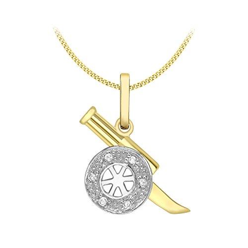 Carissima Gold - Collier - Femme - Or Jaune 375/1000 (9 cts) 1.71 gr - Diamant - 46 cm
