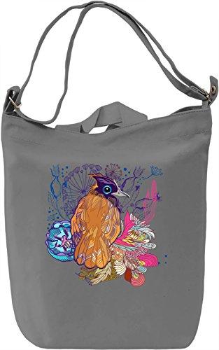 Colorful bird Borsa Giornaliera Canvas Canvas Day Bag| 100% Premium Cotton Canvas| DTG Printing|