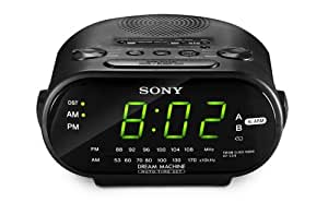Sony ICF-C318 Clock Radio with Dual Alarm (Black) (Discontinued by Manufacturer)