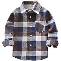 Tortor 1Bacha Little Boys' Long Sleeve Button Down Plaid Flannel Shirt