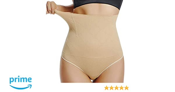 d41b32451c High Waist Thong Shaper Body Brief Control Panty Seamless Shapewear for  Women Tummy Control at Amazon Women s Clothing store