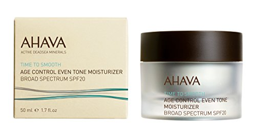 AHAVA Time to Smooth Age Control Even Tone Moisturizer Broad Spectrum SPF 20, 1.7 fl. oz.
