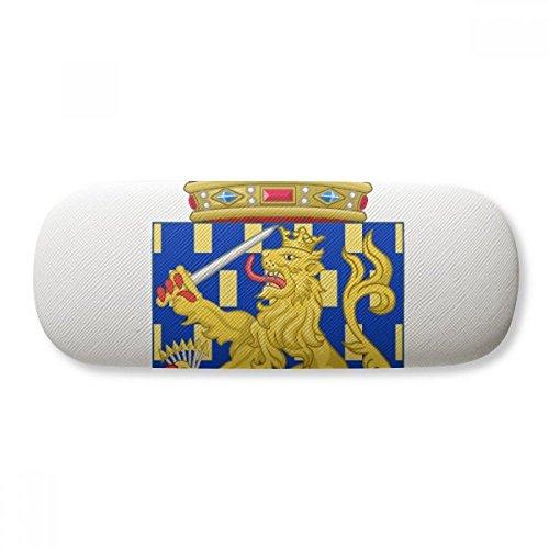 Nederlands Europe National Emblem Glasses Case Eyeglasses Clam Shell Holder Storage ()