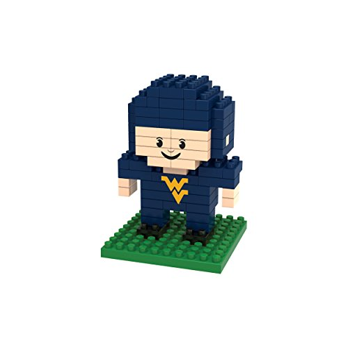 (Forever Collectibles NCAA West Virginia Mountaineers Mini BRXLZ Player Building Blocks, Blue, 4.25