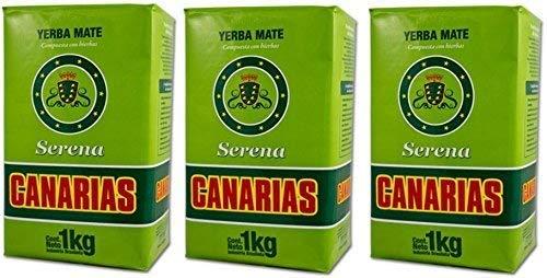 Canarias Serena 3 PACK Yerba Mate Tea 1 Kg Uruguay Brazil