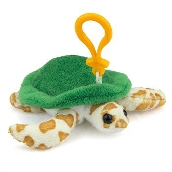 Plush Adorable Soft (Wildlife Artists Green Sea Turtle Plush Sea Turtle Stuffed Animal Backpack Clip Toy Keychain)