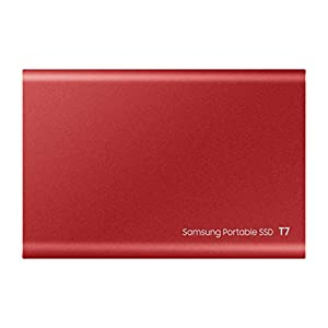 Samsung T7 Portable SSD - MU-PC1T0R/AM - USB 3.2 (Gen2, 10Gbps) External SSD - 1TB - Red