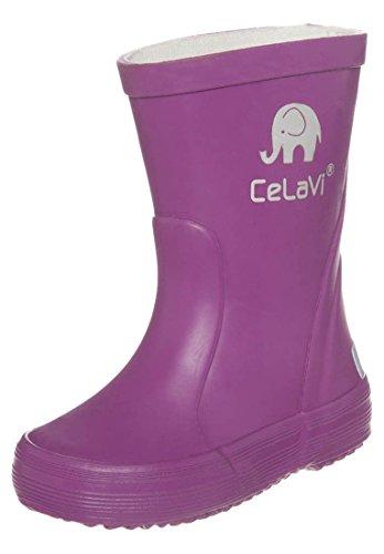 CELAVI 114763131 Kinder Mädchen Wasserdichte Gummistiefel, 100% Naturkautschuk Regenstiefel, Größe: 31, violett