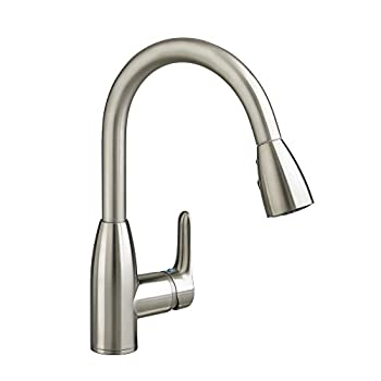 Image of American Standard 4175.300.075 Colony Soft Pull-Down Kitchen Faucet, Stainless Steel Home Improvements