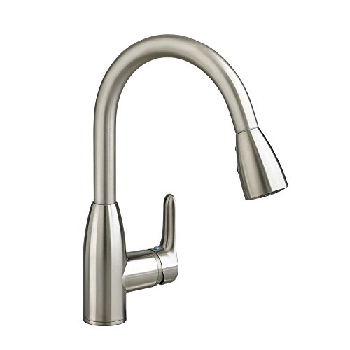 - American Standard 4175300.075 Colony Soft 1 Handle High Arc Pull Down Kitchen Faucet, 1.5 GPM, Stainless Steel