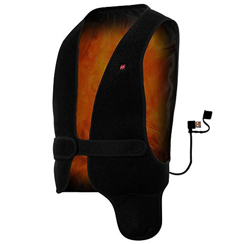GENERAL ARMOR Kids Heated Vest - Size Adjustable USB Charging Electric Heated Clothing for Aged 6-15 Boys and Girls, Washable (Kids) (Jackets Kids Heated For)