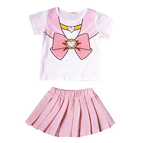 Acccity Halloween Baby Girls Sailor Moon Anime Cosplay Costume Skirt (Pink, Kid L) -