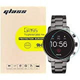 (3-Pack) LUPAPA for Fossil Q Explorist HR Gen 4 Smartwatch Tempered Glass Screen Protector, 9H Hardness 99.9% High Definition Premium Protective Film [Bubble Free, Anti-Scratch, Full Coverage]