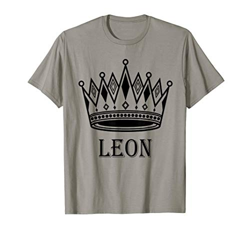 Leon - King Prince Crown, Gift For father day, Men, Boy T-Shirt