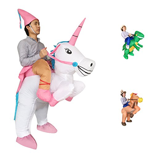 [Adult Inflatable Ride Unicorn Party Dress Halloween Suit Fancy Costume] (Plus Size Ballerina Costumes)