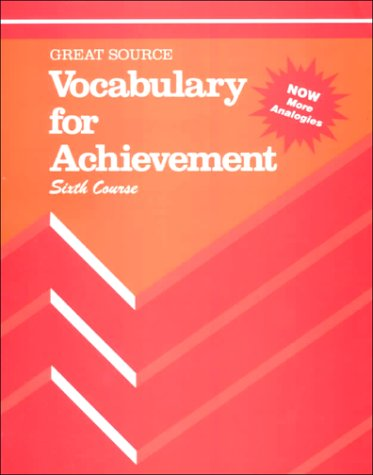 Vocabulary for Achievement: 6th Course