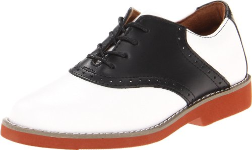 School Issue Upper Class 7300 Saddle Shoe,Black/White,2.5 W US Big Kid by School Issue