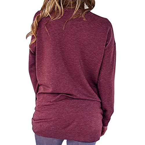Casuale Caldo Sweat Blouse Cotone Donna Camicia Rosa Maglietta Oyeden Camicetta Tops Canotte Elegante HfSqI7a
