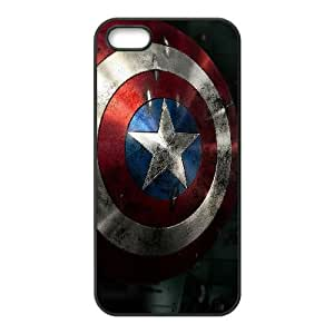 Comics Shield Of Captain America iPhone 5 5s Cell Phone Case Black gift zhm004-9275402
