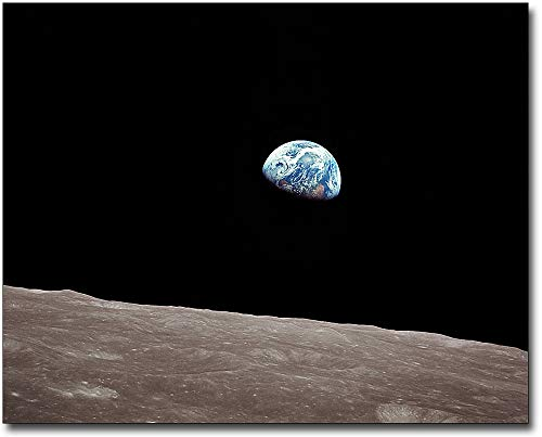 - Apollo 8 Earthrise from the Moon 11x14 Museum Silver Halide Photo Print