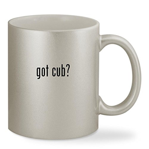 got cub? - 11oz Silver Sturdy Ceramic Coffee Cup Mug