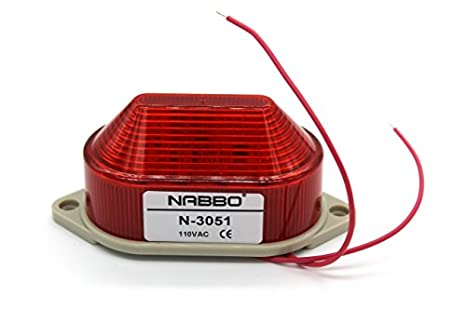 Amazon.com: AC 110 V LED rojo advertencia foco Señal ...